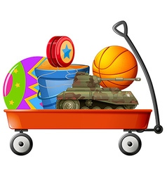 Wagon full of toys vector