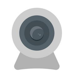webcam flat icon device and camera vector image