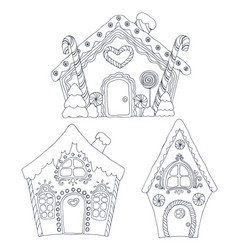 Christmas coloring pages vector