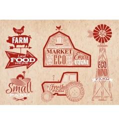 Farm vintage red vector