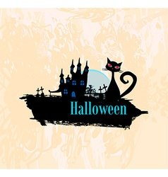 halloween invitation poster vector image