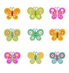 Retro Butterflies vector image vector image