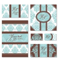 Set of floral frames vector