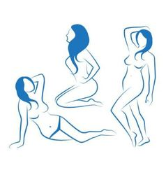 sketches of female silhouettes vector image