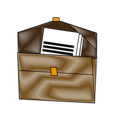 Brown folder document paper office supplies vector