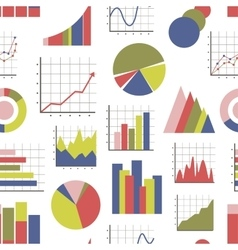 Business Infographic icons pattern vector image vector image