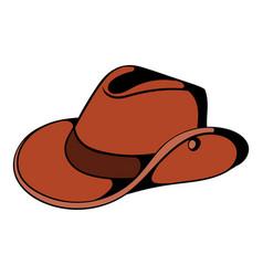 cowboy hat icon cartoon vector image vector image