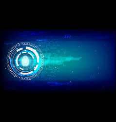 fingerprint on abstract future technology concept vector image
