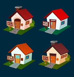 house for sale and rent vector image