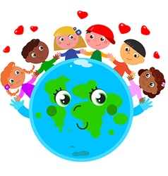 Peace around the world vector image