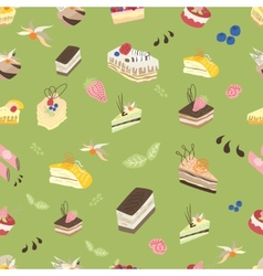 Sweet spring pattern vector image vector image