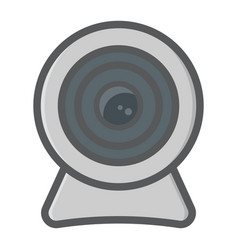 webcam colorful line icon device and camera vector image vector image