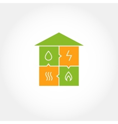 well-planned house vector image