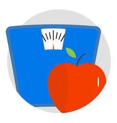 diet icon app vector image