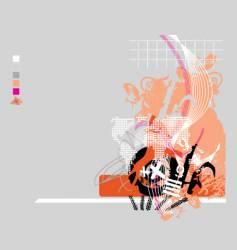 grunge tech vector image vector image