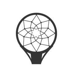 hoop net basketball vector image