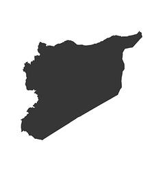 Syrian Arab Republic map silhouette vector image
