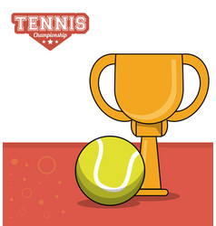 tennis sport trophy ball design image vector image vector image