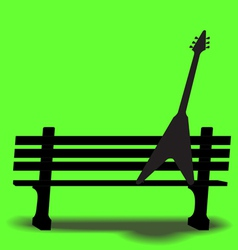 Bench Guitar 3 vector image