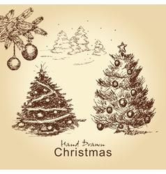 christmas vintage set vector image
