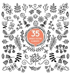 Eight Versatile wreaths Ornament for decorating vector image
