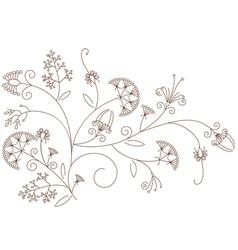Floral pattern plant ornament vector image