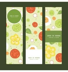 fresh salad vertical banners set pattern vector image