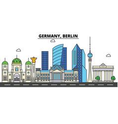 germany berlin city skyline architecture vector image
