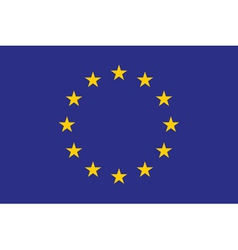Original and simple Europe flag EU isolated in vector image