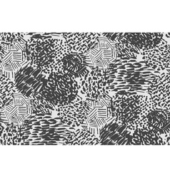 Seamless pencil scribble pattern in black and whit vector