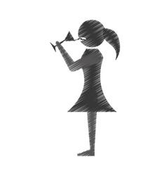 woman drink wine icon design vector image