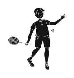 young people involved in badminton the game of vector image