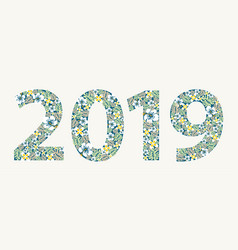 2019 flowers sign vector image