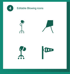 4 blowing icons vector image