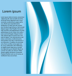 abstract aqua wave vector image