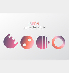 abstract pastel gradient colors simple figure vector image