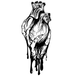 arm with heart vector image