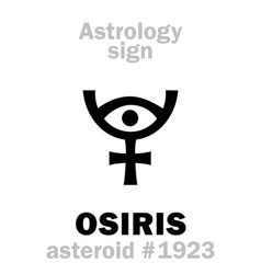 astrology asteroid osiris vector image
