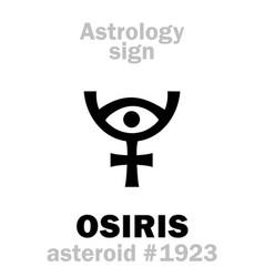 Astrology asteroid osiris vector