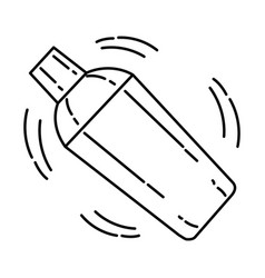 Bartender set icon doodle hand drawn or outline vector