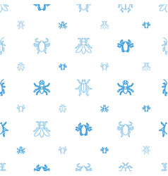 Beetle icons pattern seamless white background vector