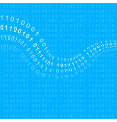 Binary code background vector