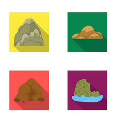 Boulders a rounded mountain rocks in the sea vector