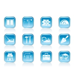 building and construction icons vector image