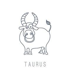 Bull taurus vector