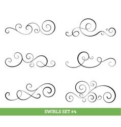 Calligraphic swirls collection vector
