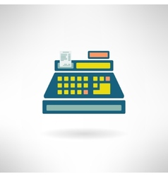 Cashier counter in modern flat design Supermarket vector