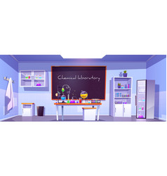 chemical laboratory empty chemistry cabinet room vector image