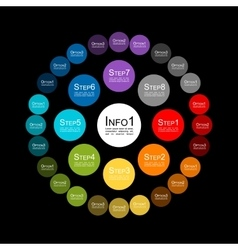 Circle infographic for your design vector image