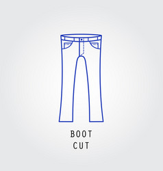 Denim fit icon vector